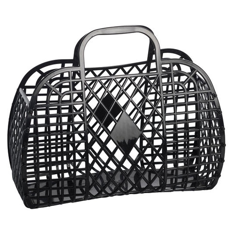 Sunjellies Retro Basket Black - Large