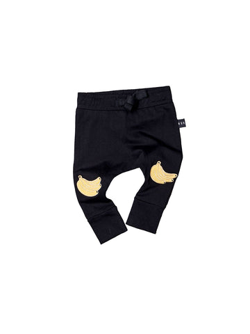 Huxbaby Banana Drop Crutch Pants | Black