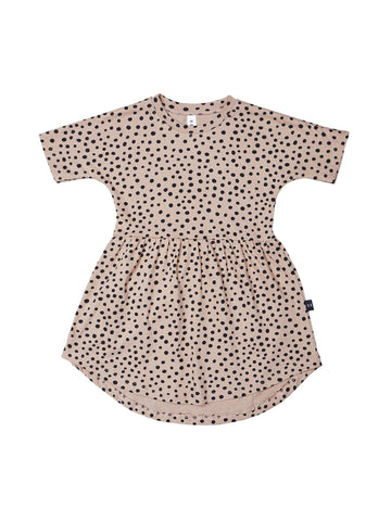 Huxbaby Freckle Swirl Dress | Camel