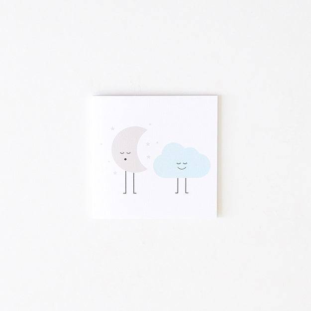 Two Little Ducklings | Small Moon Cloud Card