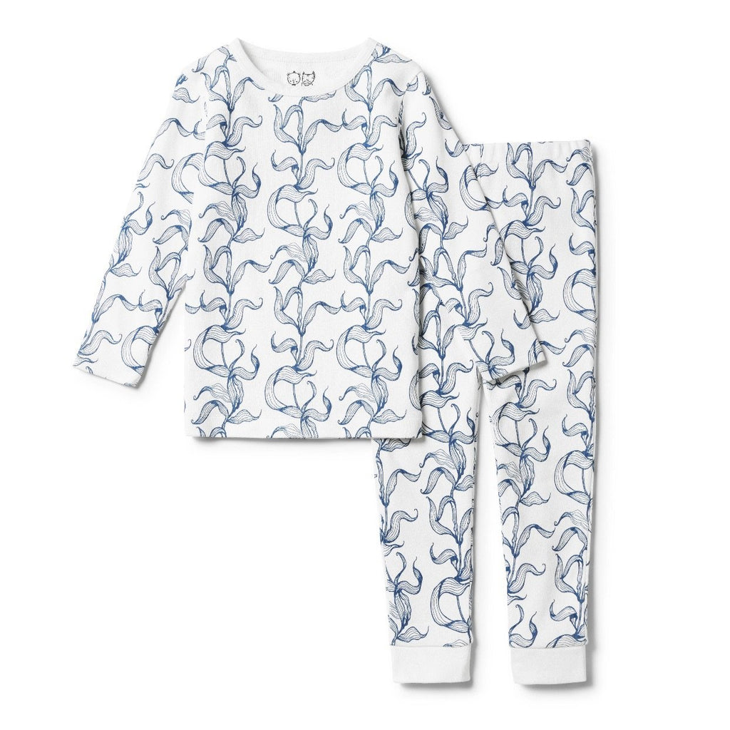 Wilson And Frenchy Organic Sea Grass Long Sleeve Pj Set