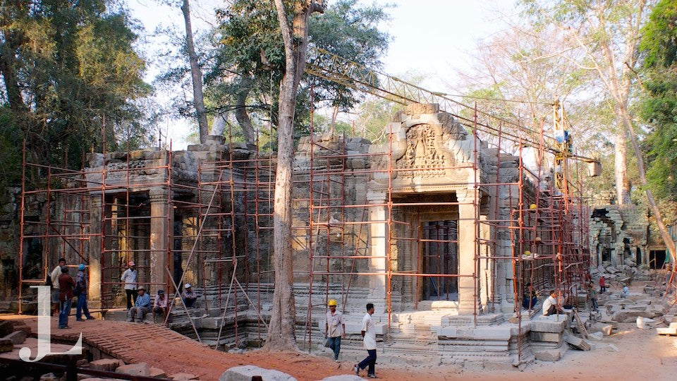 Works at Ta Prohm Siem Reap Angkor Cambodia