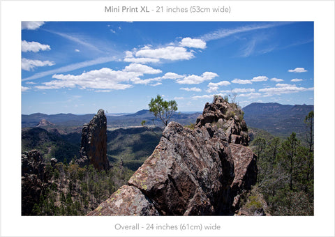 Top of the world, Warrumbungles NSW Australia - Mini Print XL