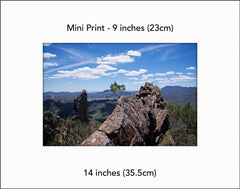 Top of the world, Warrumbungles NSW Australia - Mini Print