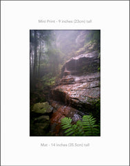 Witches Shroud, Katoomba Blue Mountains Australia - Mini Print Standard