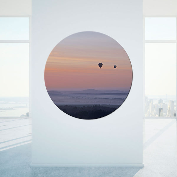 Art on Glass Porthole by John Lechner Art - Aloft morning rising