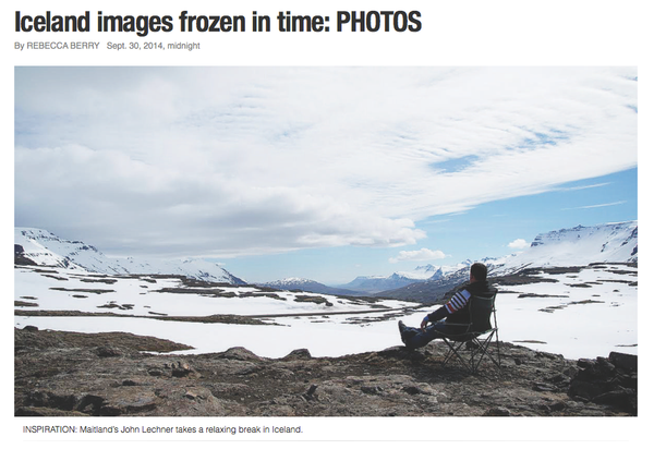 Maitland Mercury Online: Iceland images frozen in time