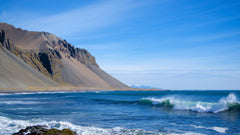 Surf to the Mountains, Iceland - Art on Glass Open Edition