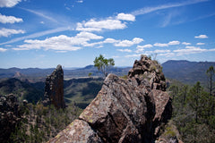 Top of the world, Warrumbungles NSW Australia - Art on Glass Open Edition