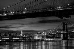 Two Bridges, NYC - Art on Glass Open Edition Colour or B&W