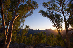 Warrumbungle Sun Star, Warrumbungle National Park Australia - Art on Glass Open Edition