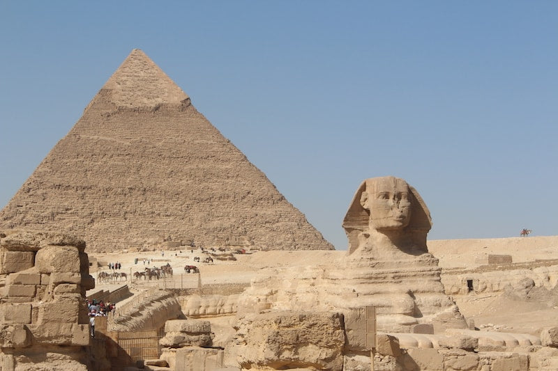 Exploring the Ancient world of Egypt - Sphinx and pyramid