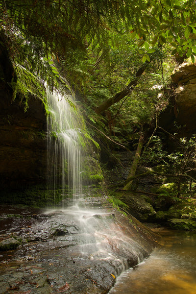images of landscape Australia Blue Mountains Waterfall green veil