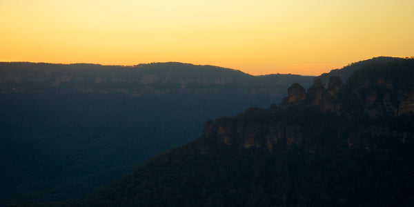 images of landscape Australia Blue Mountains Waterfall sunset