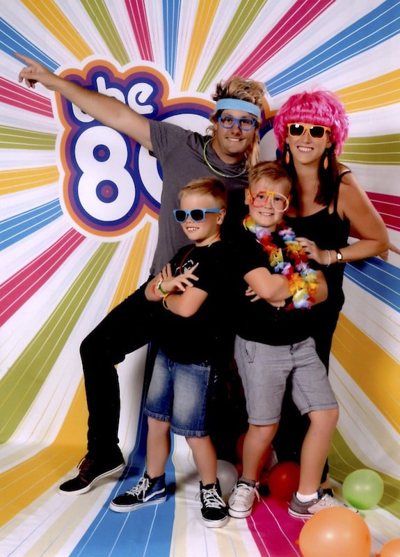 Karen, Adam, Archie & Campbell 80s theme night