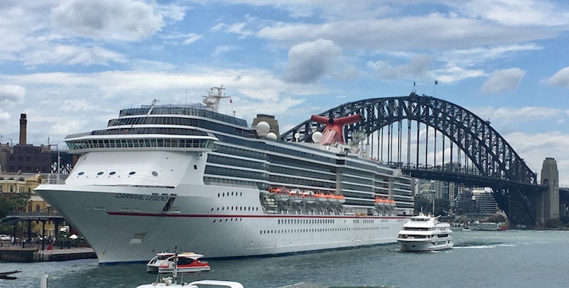 In the South Pacific to New Caledonia with Carnival Legend