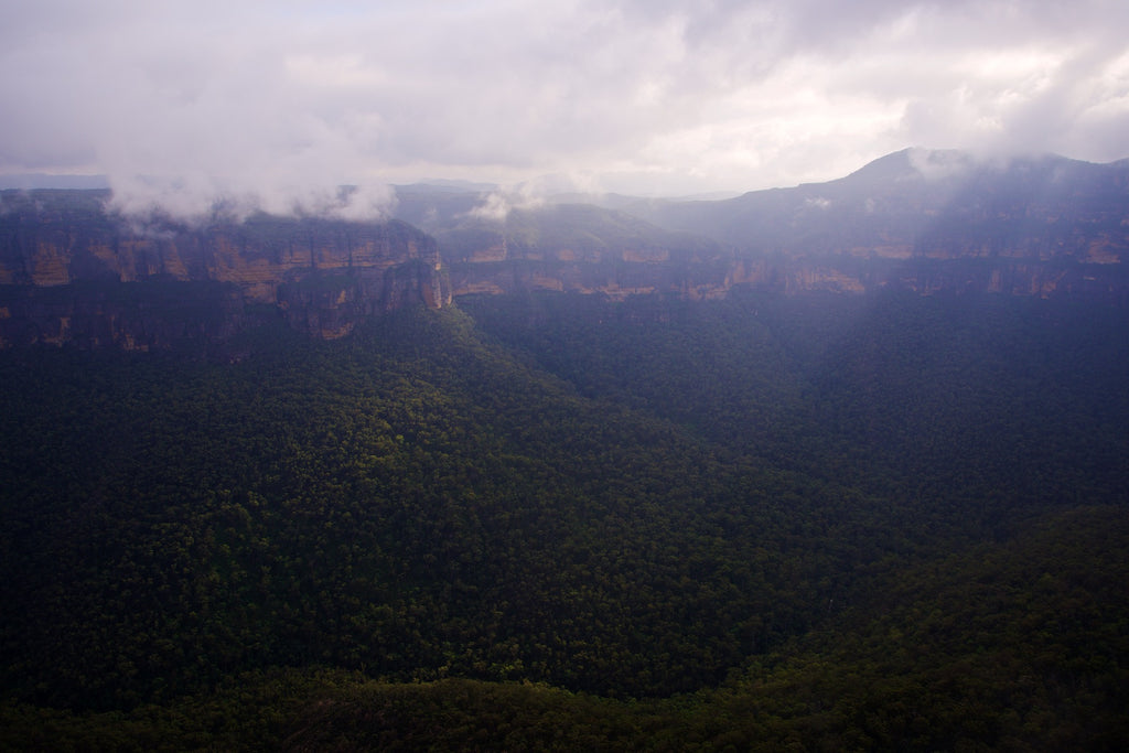 Anvil View - Blue Mountains National Park Australia Landscape Print