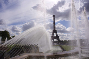 Eiffel Fountain - Paris France Landscape Print