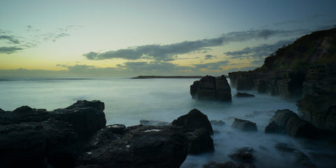 Dawn's Shoals - Caves Beach Australia Landscape Print