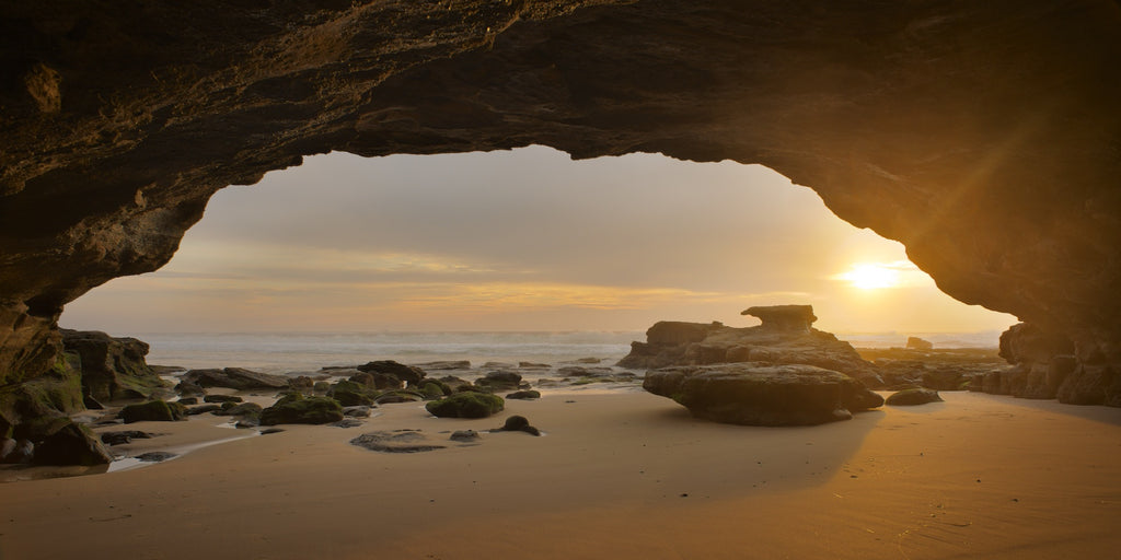 Eye of morning, Caves Beach Australia - Art on Glass Limited Edition