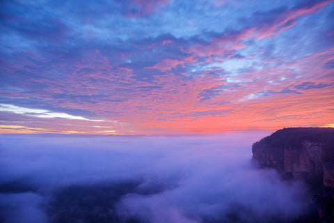 Govett's Sky Show - Blackheath Blue Mountains National Park Australia Landscape Print