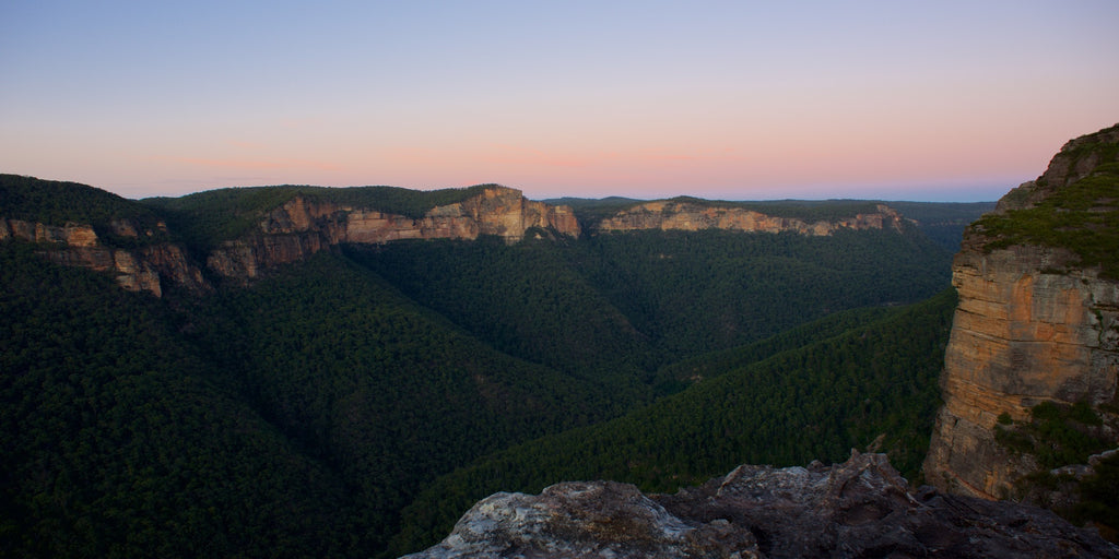 Grose Valley in Pastel - Blue Mountains Australia Landscape Print