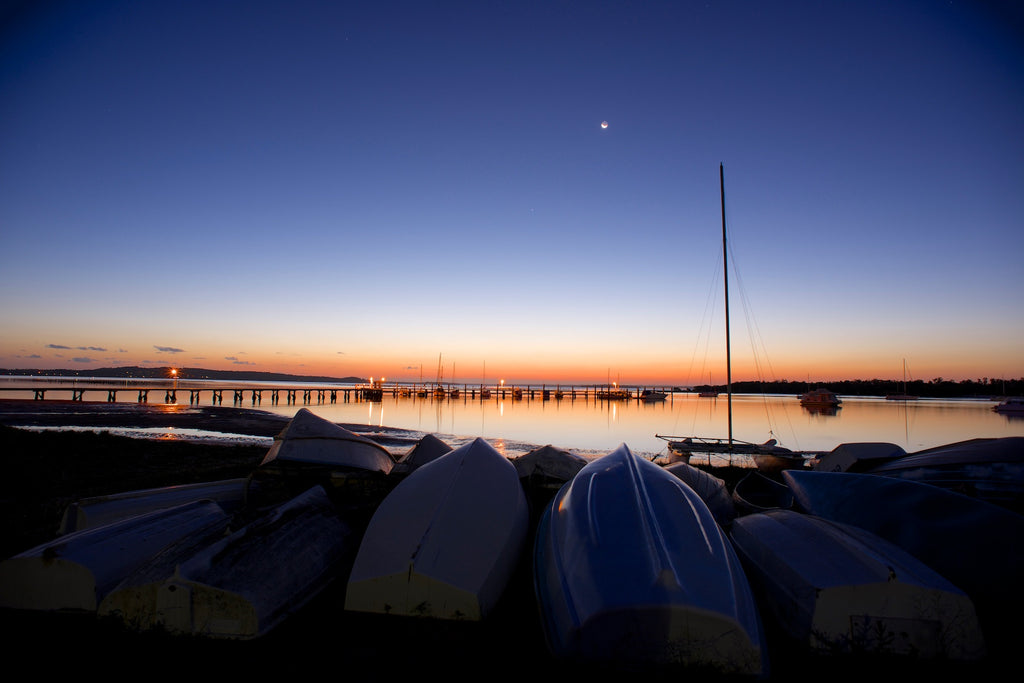 Hulls at the Ready - Port Stephens Australia Landscape Print