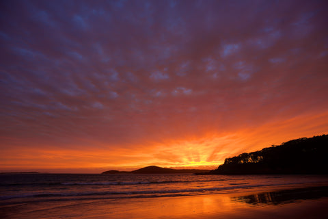 Sunburst - Fingal Bay Beach Port Stephens Australia Landscape Print