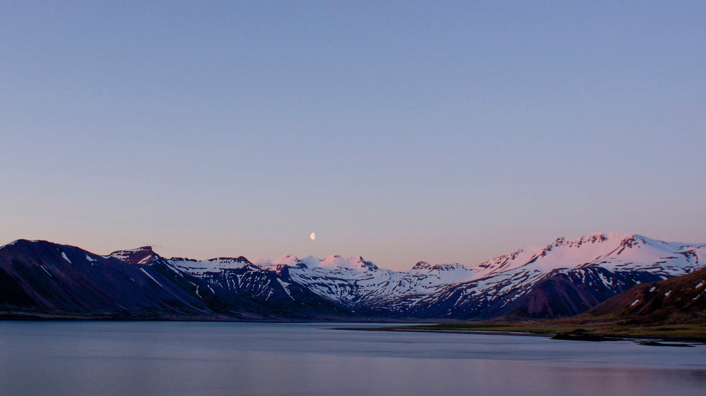 Moon Rise Mountains - Iceland Landscape Print