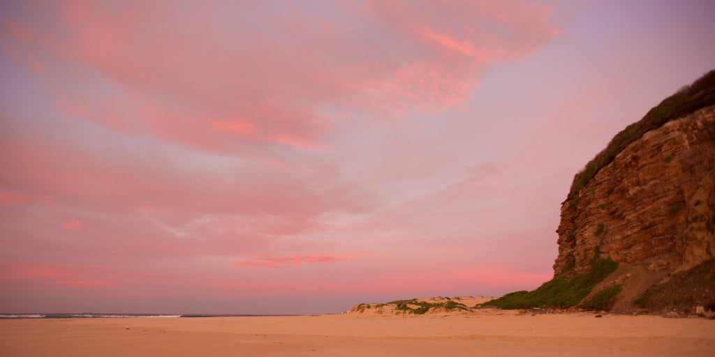 Nobby's in Pink - Newcastle Australia Landscape Print
