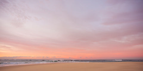 Pink Painted Sky - Nobbys Head Newcastle NSW Australia Landscape Print