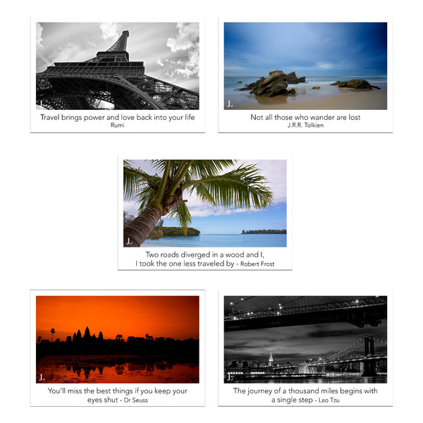Postcard Quotes Travel: Postcard Size Travel Photos And Quotes