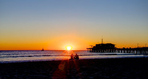 Santa Monica Sunset - Los Angeles USA Landscape Print