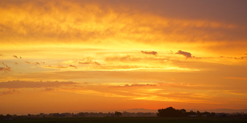 Sky on fire - Hunter Valley NSW Australia Landscape Print