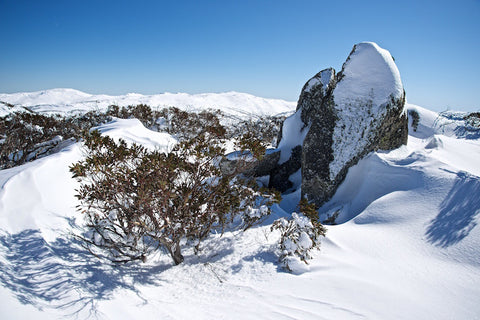Snow, granite and gums - Perisher Kosciuszko National Park NSW Australia Landscape Print