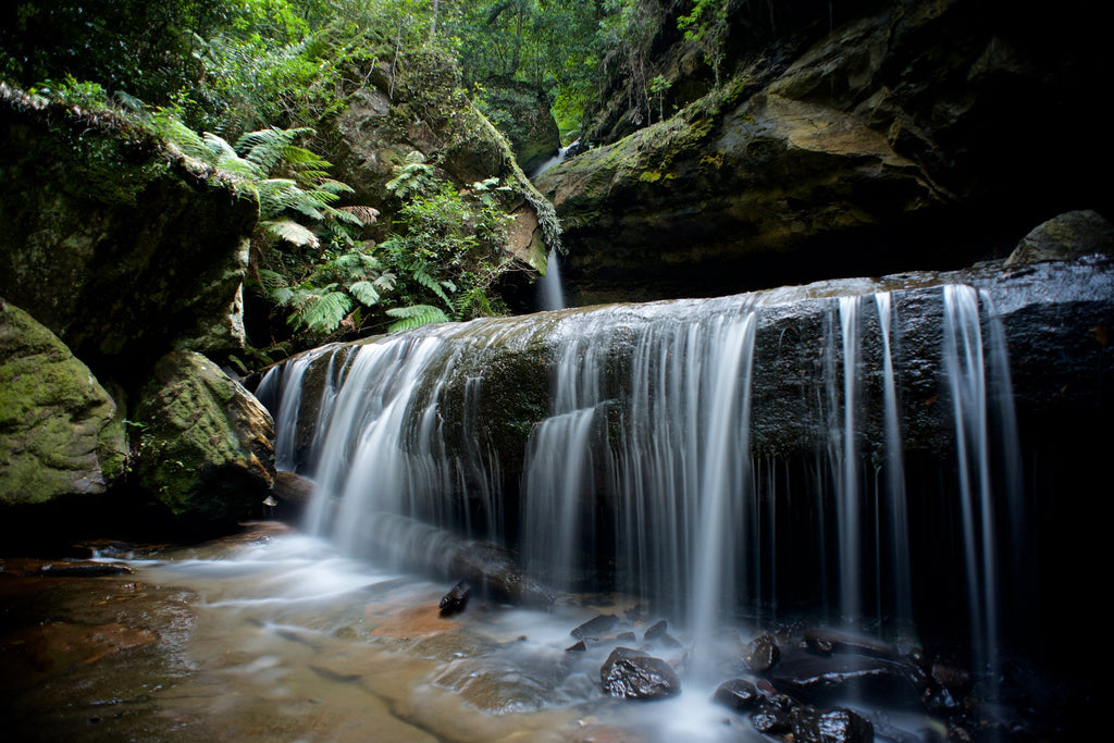 Trinity Falls, Blue Mountains NSW - Art on Glass Limited Edition