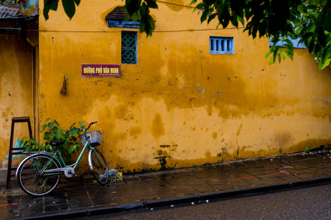 Bicycle on Yellow - Hoi An Ancient Town Quang Nam Province, Vietnam Landscape Print
