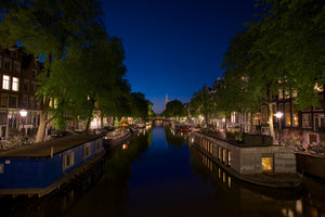 Blue By Night - Amsterdam Holland (The Netherlands) Landscape Print