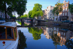 Canal Life - Amsterdam Holland (The Netherlands) Landscape Print