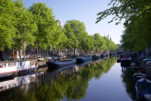 Canal Reflection - Amsterdam Holland (The Netherlands) Landscape Print