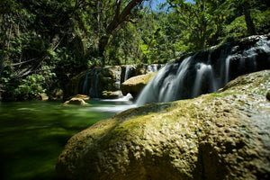 Cascades of Green - Mele Village Vanuatu Landscape Print Waterfall