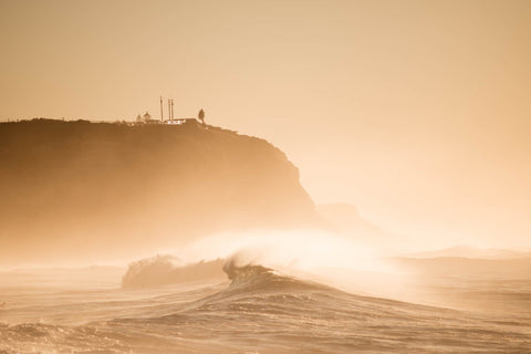 Misted Swell - Merewether Beach Newcastle NSW Australia Landscape Print