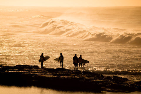 Surfer's Pause - Merewether Beach Newcastle NSW Australia Landscape Print