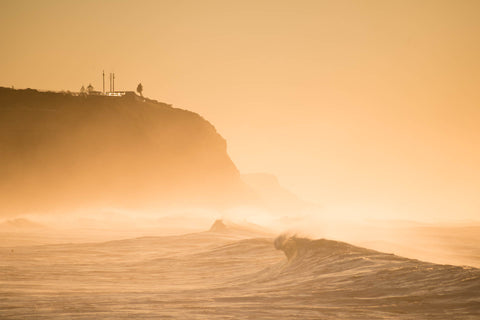 Swell and mist - Merewether Beach Newcastle NSW Australia Landscape Print