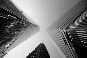 Trio of Triangles - One World Trade Center Manhattan New York City NY USA Landscape Print