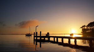 Wangi Sunrise - Wangi Wangi Lake Macquarie NSW Australia Landscape Print