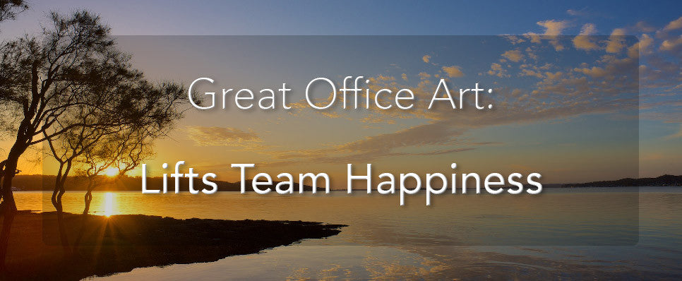 John Lechner Art | The Office Art Specialists Office Art Lifts Team Happiness