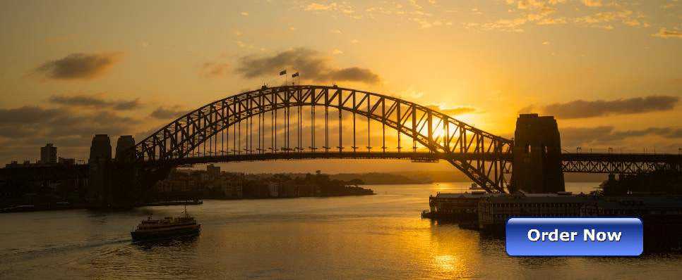 Landscape Photo Art Golden Coathanger, Sydney Australia - Art on Glass Limited Edition