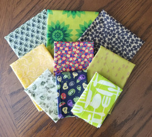 Beeswax Wraps - 9 Piece Set - Ankle Deep Package - 3 S, 3 M, 3 L
