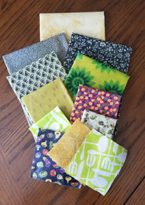 Beeswax Wraps - 12 Piece Set - Be The Change Package- 3 XS, 2 S, 2 M, 2 L, 2 XL, 1 Bread